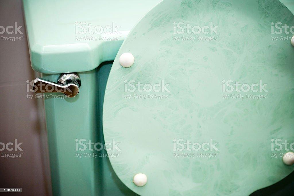 Retro Toilet stock photo