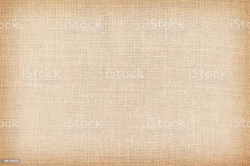 Retro toned natural linen texture or background stock photo