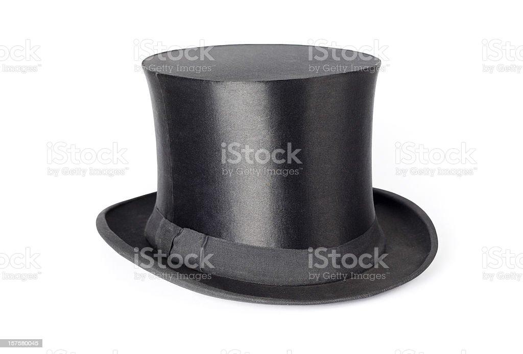 Retro top hat on white background stock photo