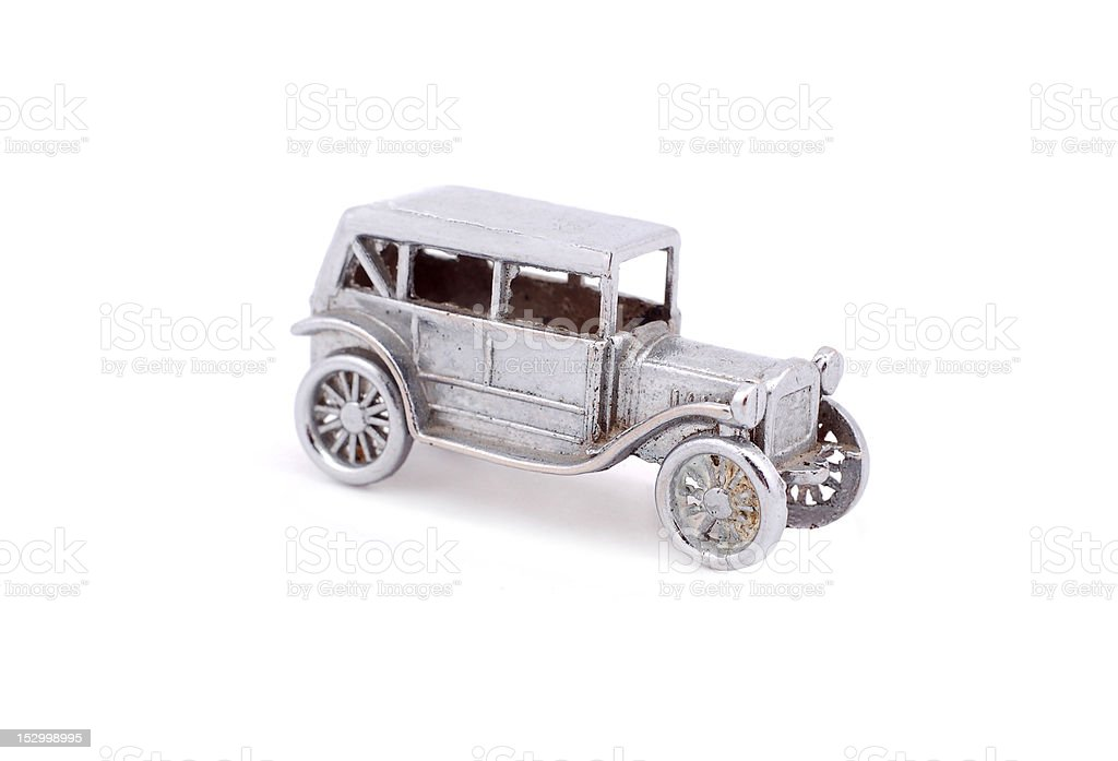 Retro toy car stock photo