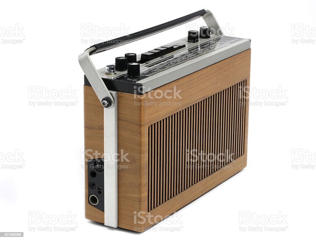 Retro Transistor radio of 60s and 70s design royalty-free stock photo