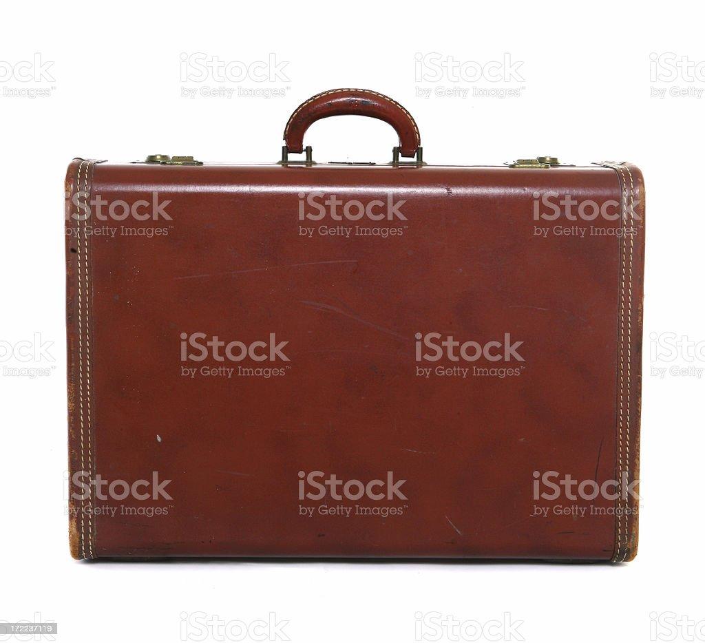 Retro Travel Suitcase stock photo