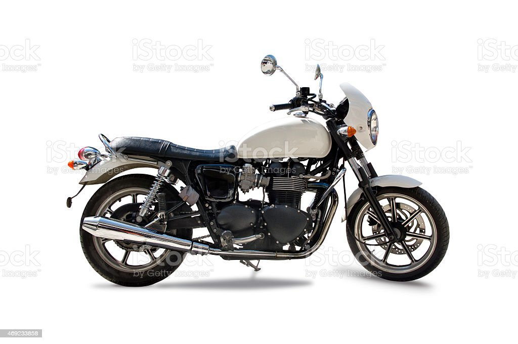 Retro Triumph motorcycle stock photo