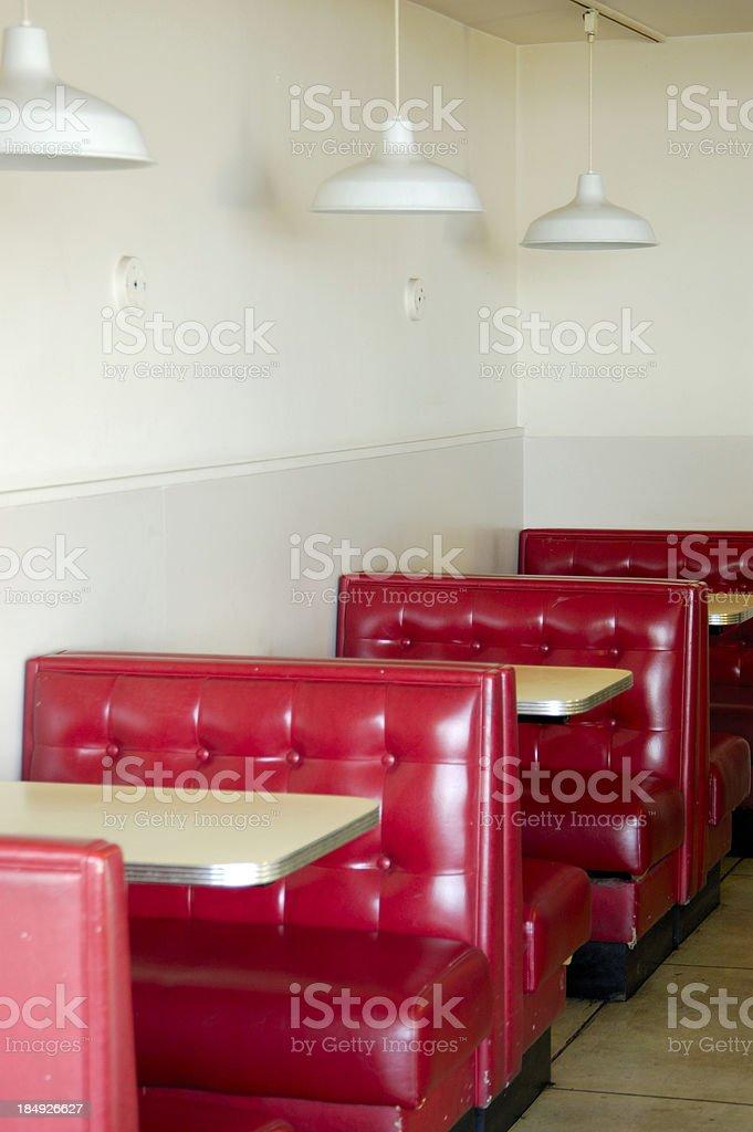 retro truck stop diner stock photo