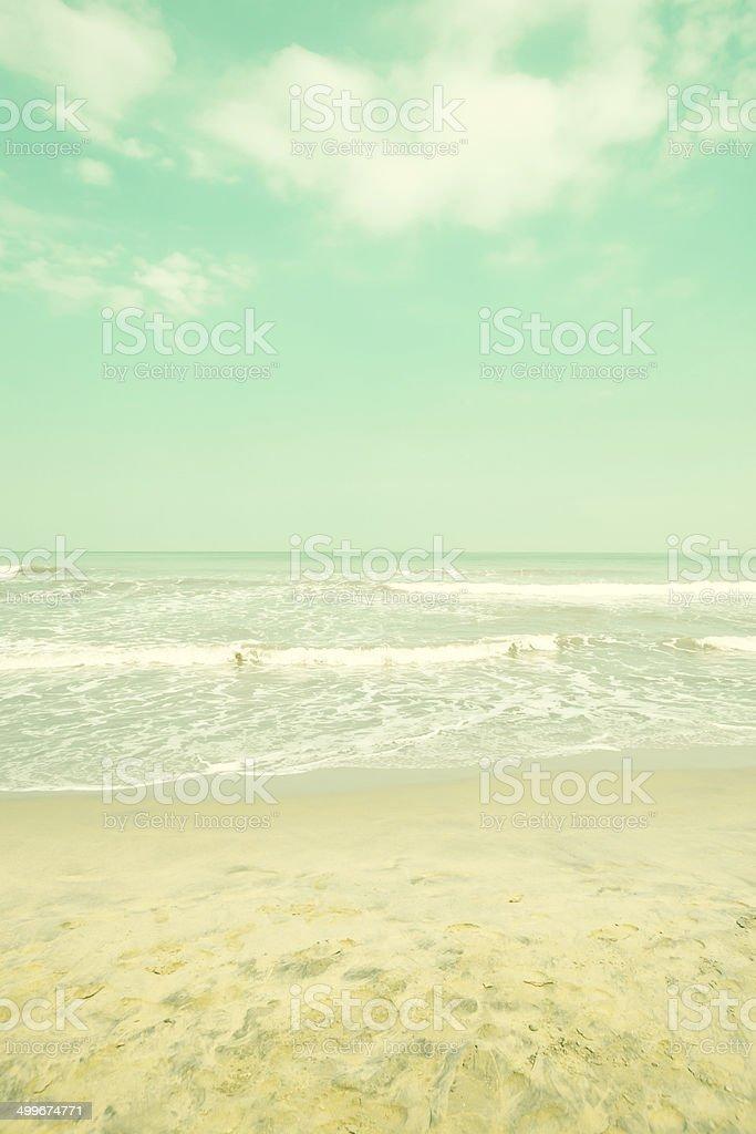 Retro Turquoise Beach royalty-free stock photo