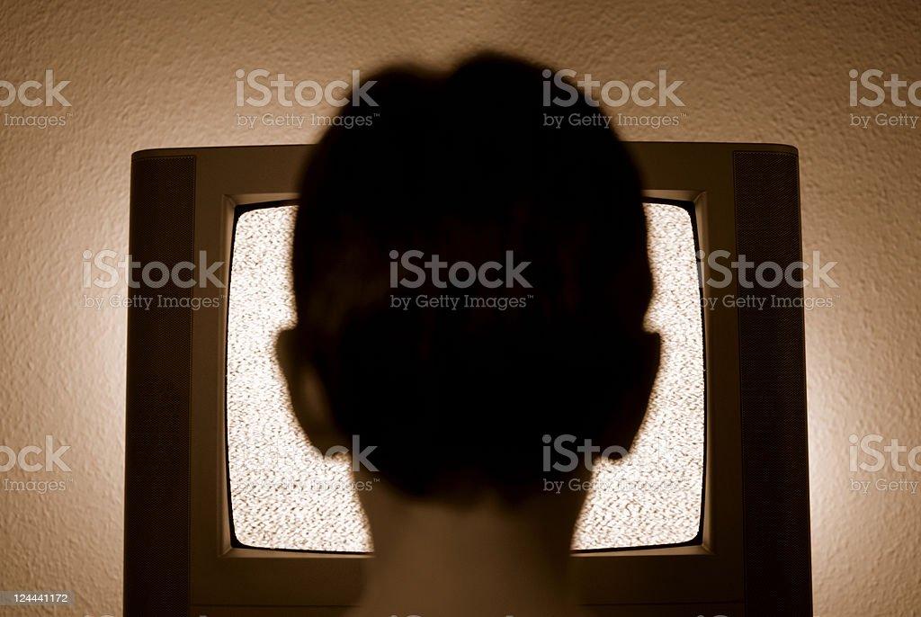 Retro TV Addict royalty-free stock photo