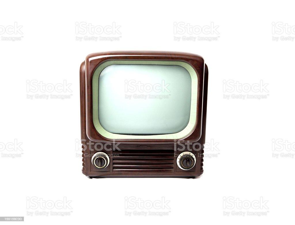 Retro tv similar to YouTube icon stock photo
