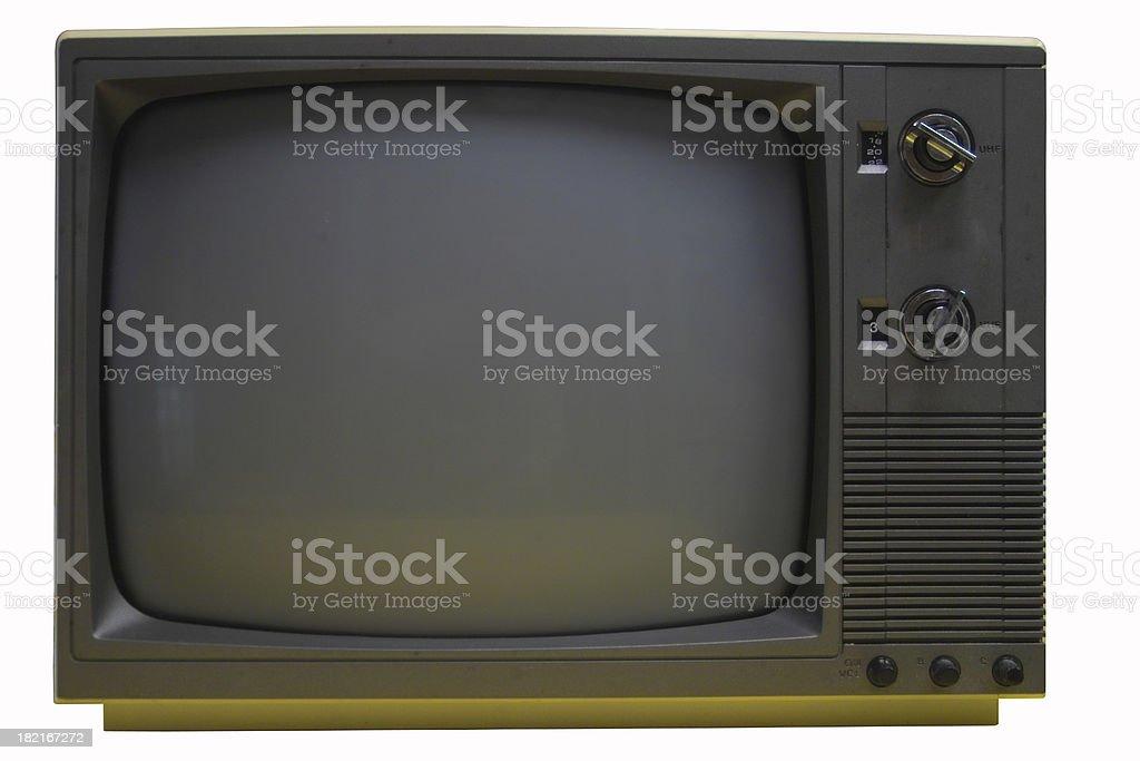 retro tv w/ path royalty-free stock photo