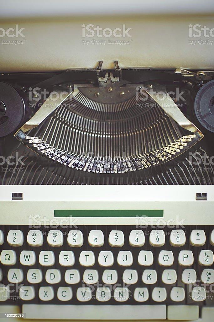 Retro Typewriter Keyboard royalty-free stock photo