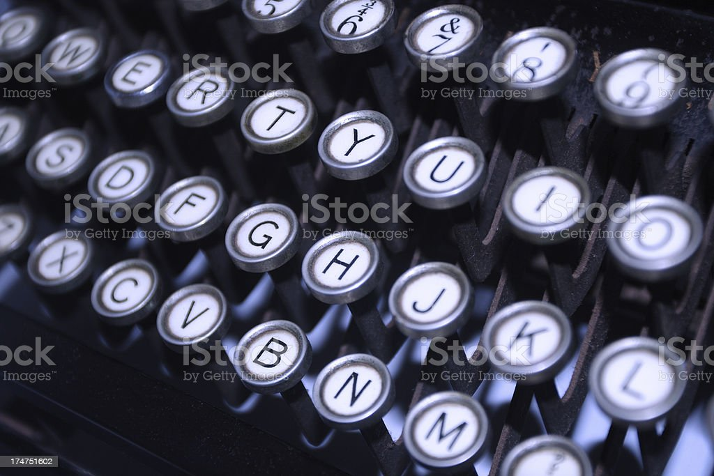 retro typewriter keys royalty-free stock photo