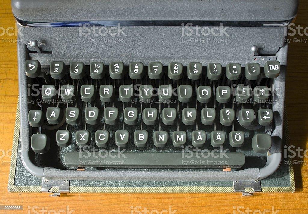 Retro Typewriter Keys royalty-free stock photo