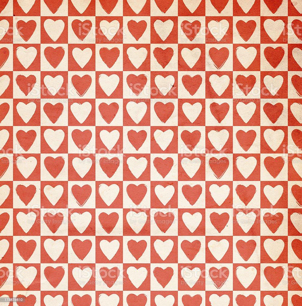Retro Valentine Paper XXXL stock photo