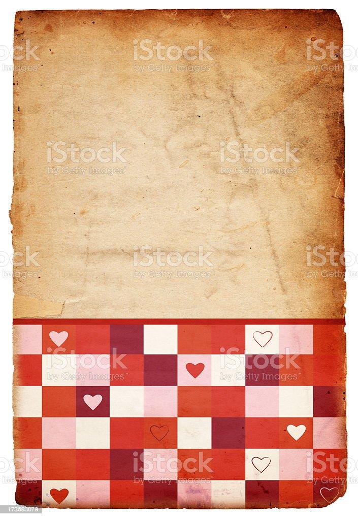 Retro Valentine's Paper XXXL stock photo