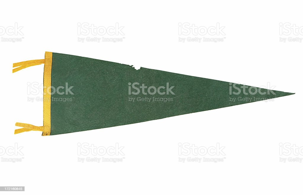 Retro Varsity Pennant stock photo