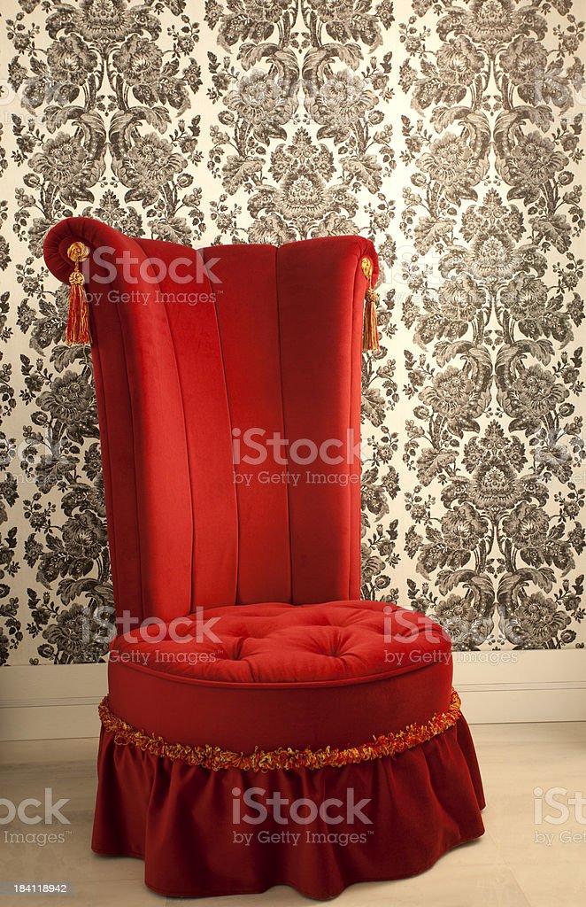 Retro Velvet Armchair stock photo