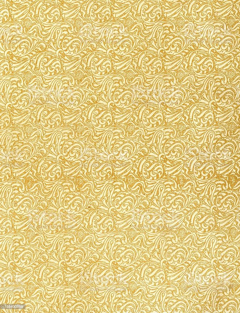 Retro Victorian Wallpaper Pattern royalty-free stock photo