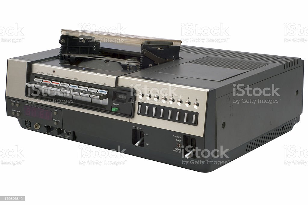 retro video recorder royalty-free stock photo