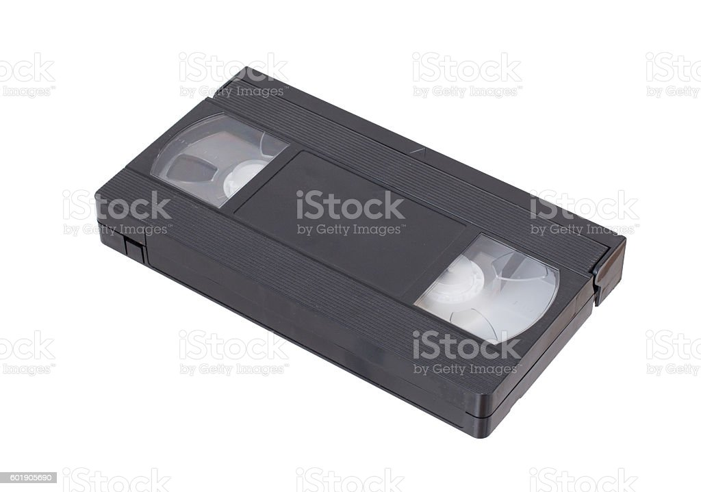 Retro videotape isolated on a white background stock photo