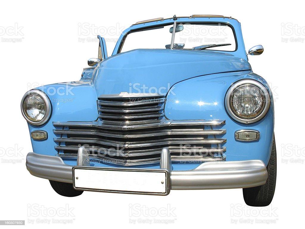 retro vintage sonho carro de luxo isolado azul foto de stock royalty-free