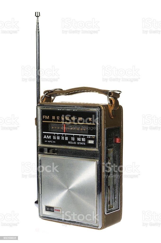 Retro Vintage Portable Radio royalty-free stock photo