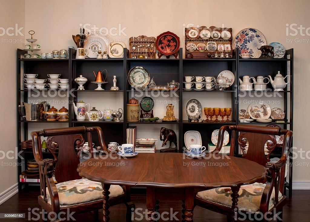 Retro / Vintage style tea room, stock photo