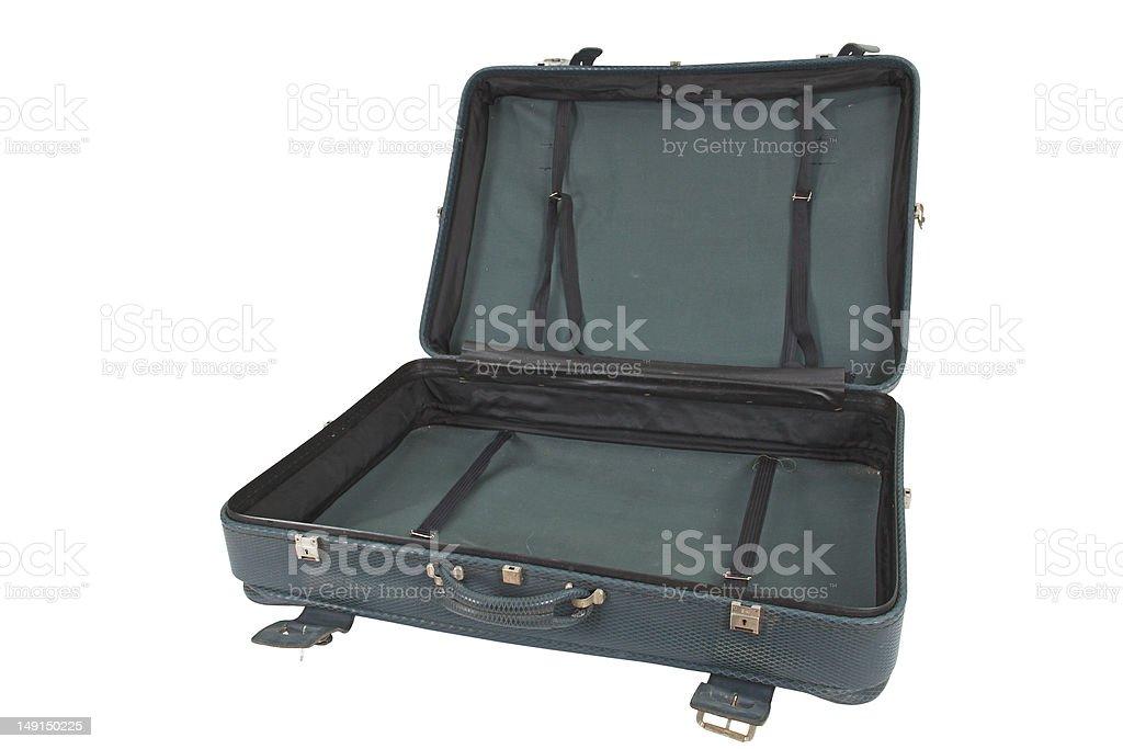 Retro Vintage Suitcase (isolated) royalty-free stock photo