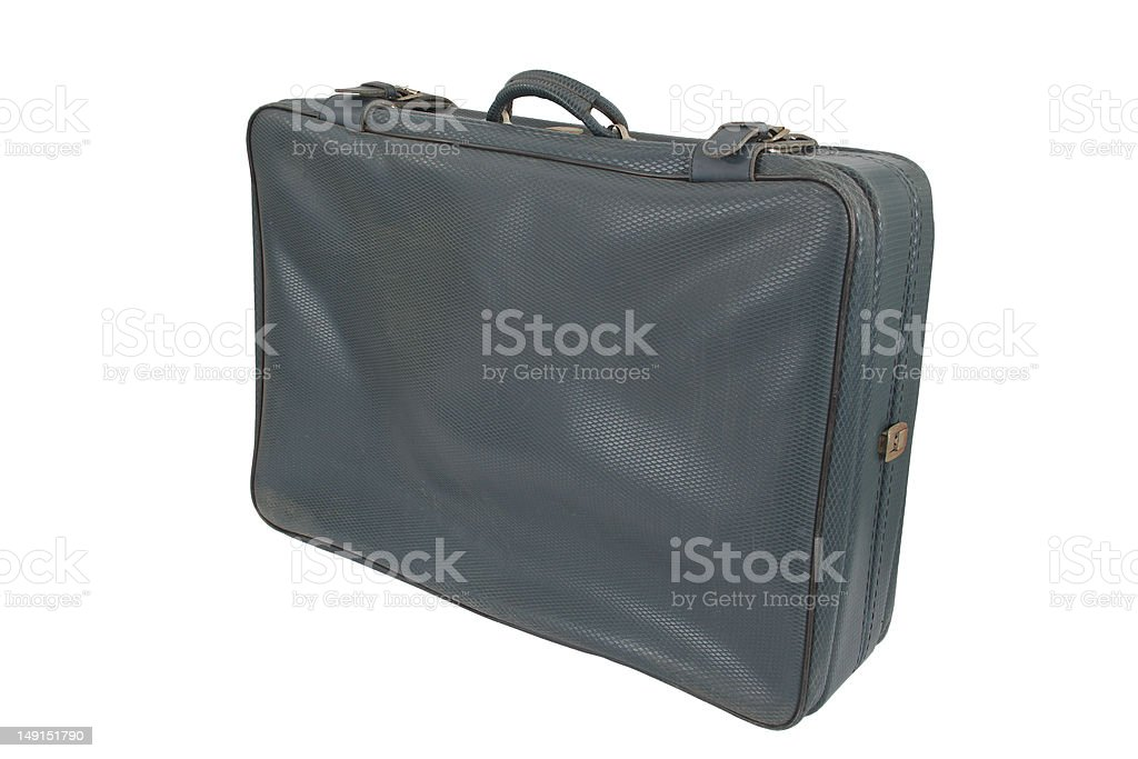 Retro Vintage Suitcase (isolated) royalty-free stock photo