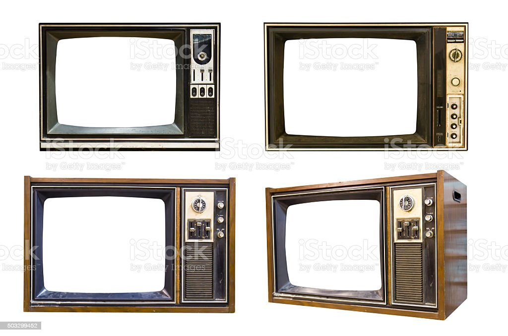 Retro Vintage television 6 stock photo