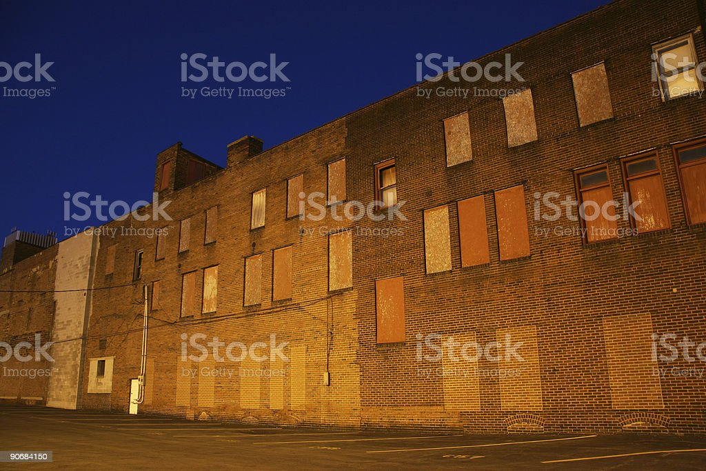 Retro Wall At Dusk - Youngstown, Ohio stock photo