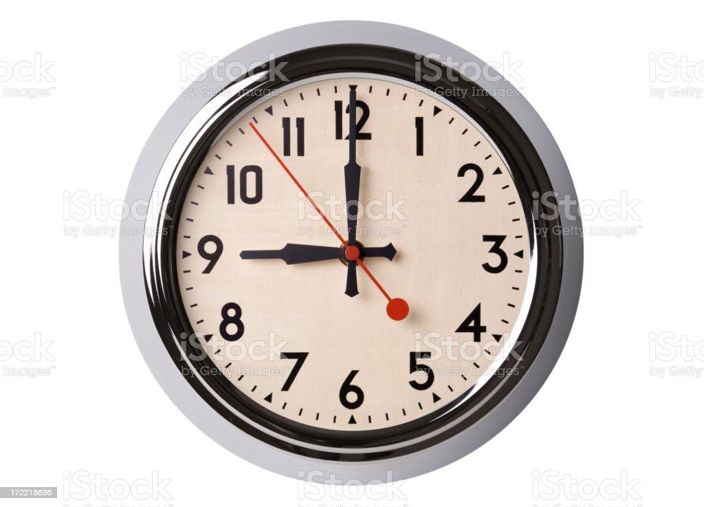 Retro Wall Clock Set To 900 stock photo 172218696