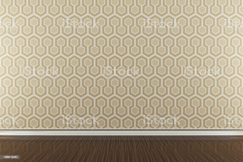 Retro Wallpaper Interior royalty-free stock photo