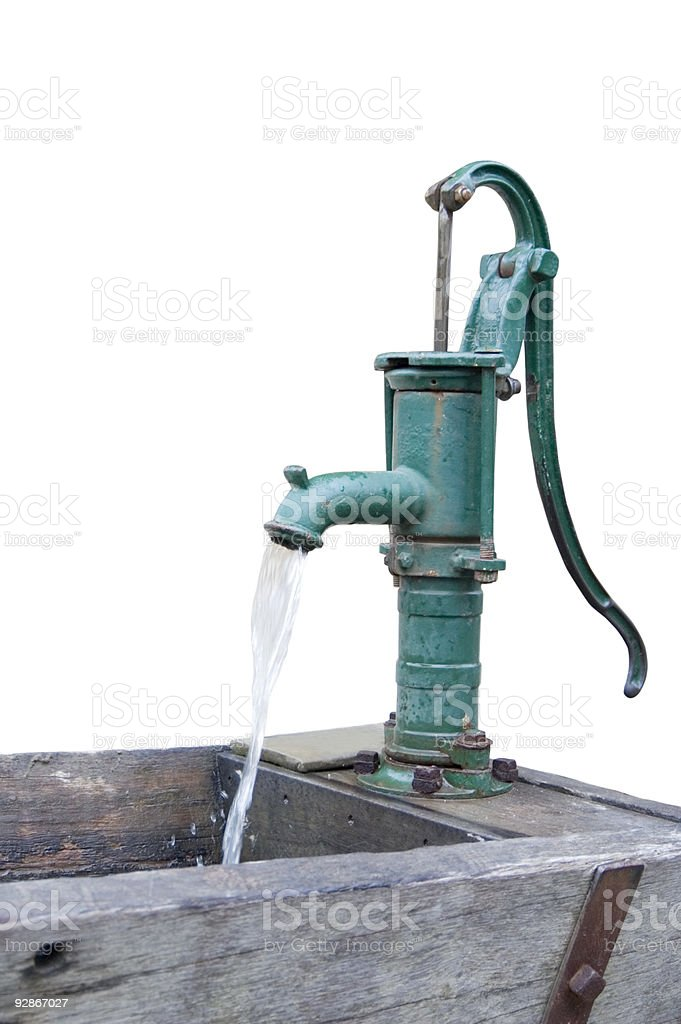 Retro Water Pump - Isolated royalty-free stock photo