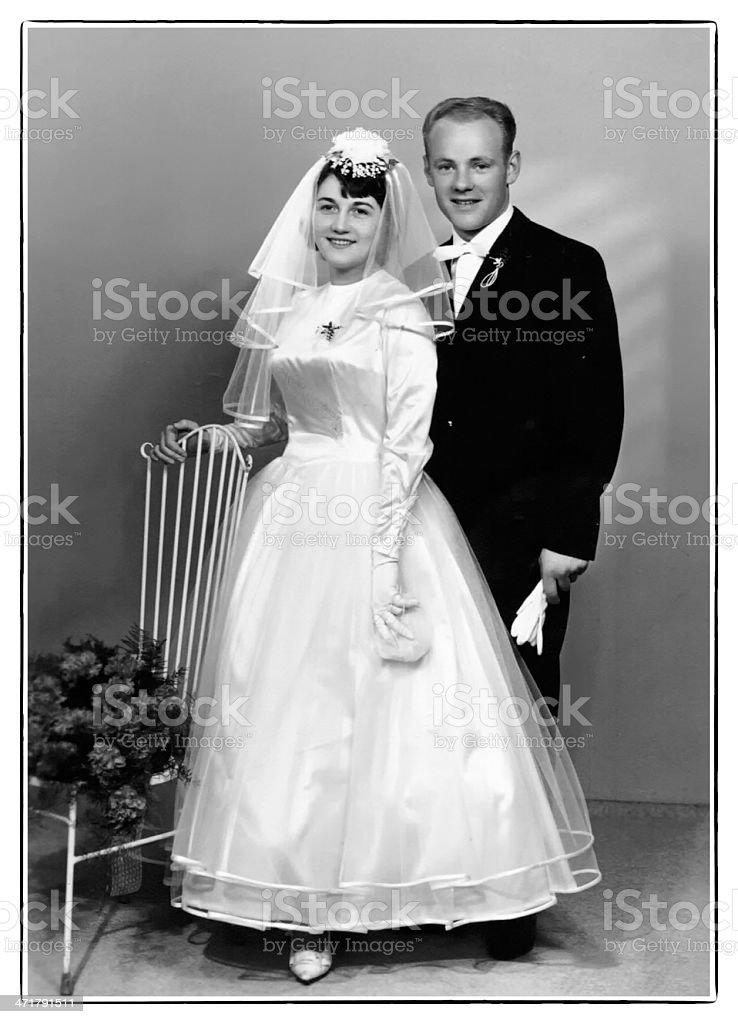 Retro Wedding stock photo