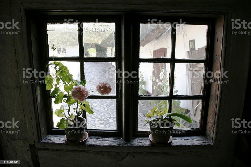 Retro window royalty-free stock photo
