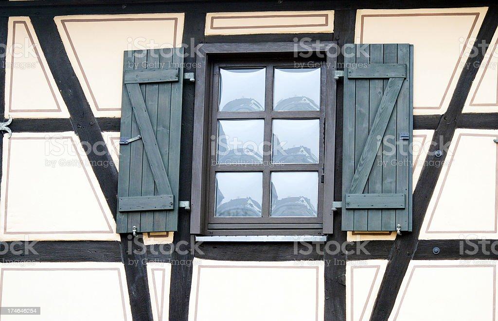 Retro window stock photo