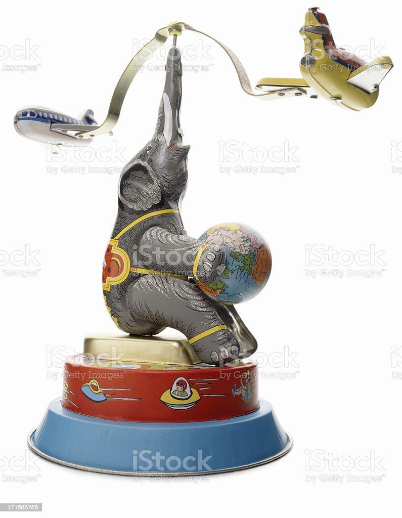 Retro Wind-Up Toy stock photo