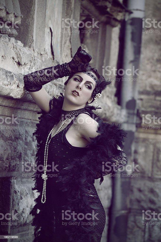 Retro Woman 1920s - 1930s royalty-free stock photo