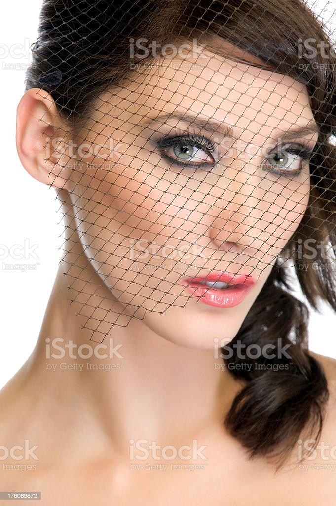 Retro woman stock photo