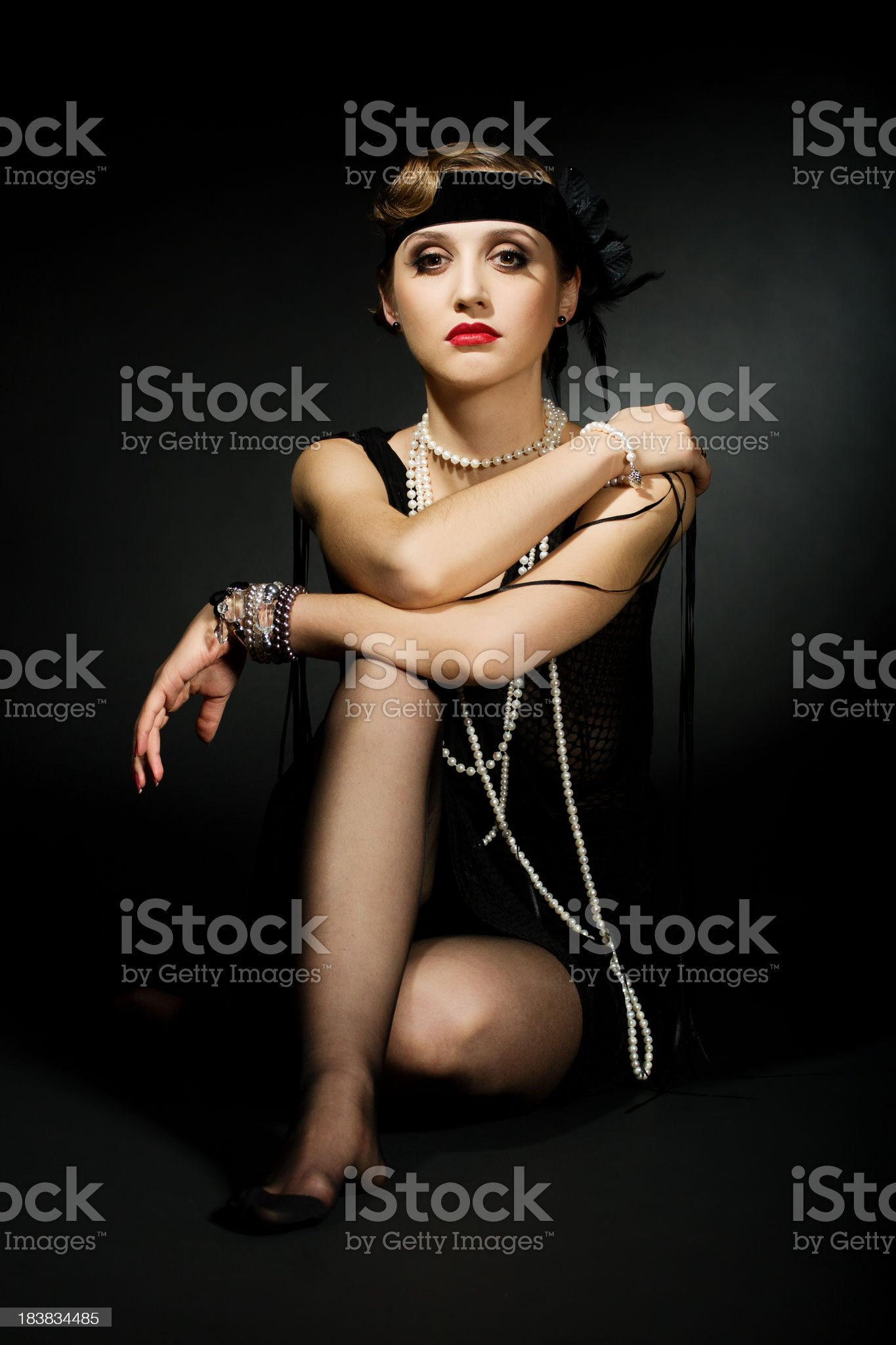 Retro Woman royalty-free stock photo