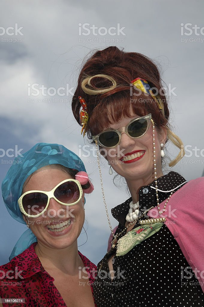 Retro Women Hons of Hampden, Baltimore stock photo