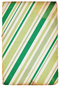 A retro wrapping Paper with linear designs of green and gold