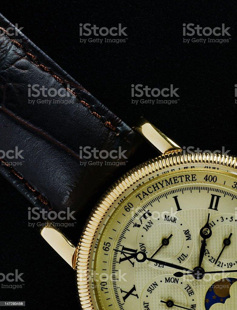 Retro wristwatch royalty-free stock photo