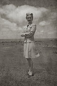 Retro WW2 Navy Soldier Woman