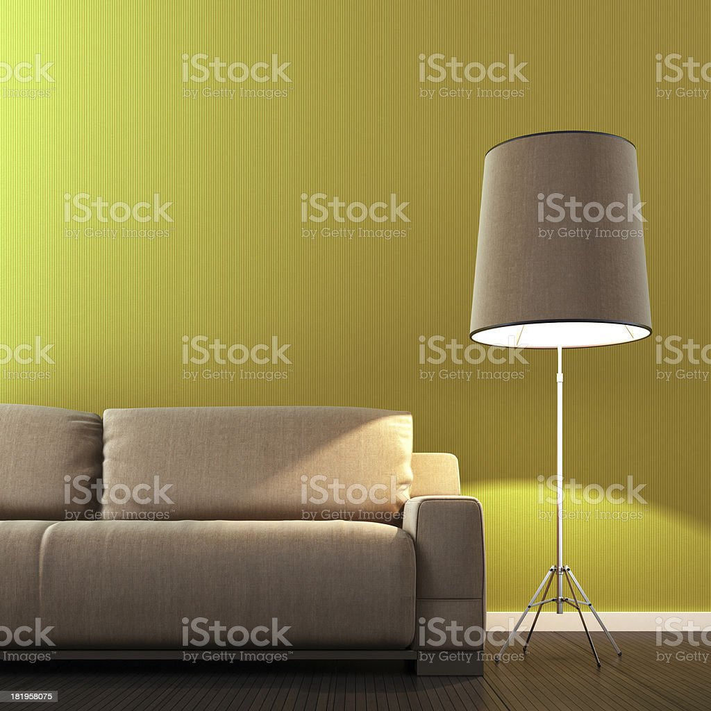 Retro Yellow Interior royalty-free stock photo