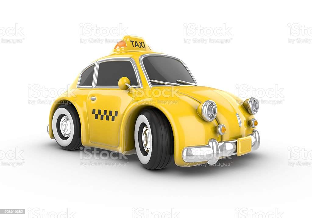 Retro yellow taxi car royalty-free stock photo