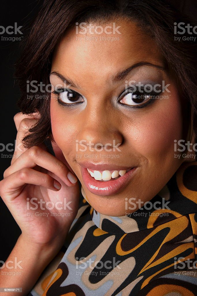 retro young woman royalty-free stock photo