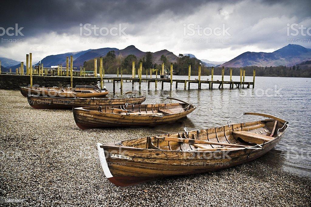 Retro-Look Lake District royalty-free stock photo