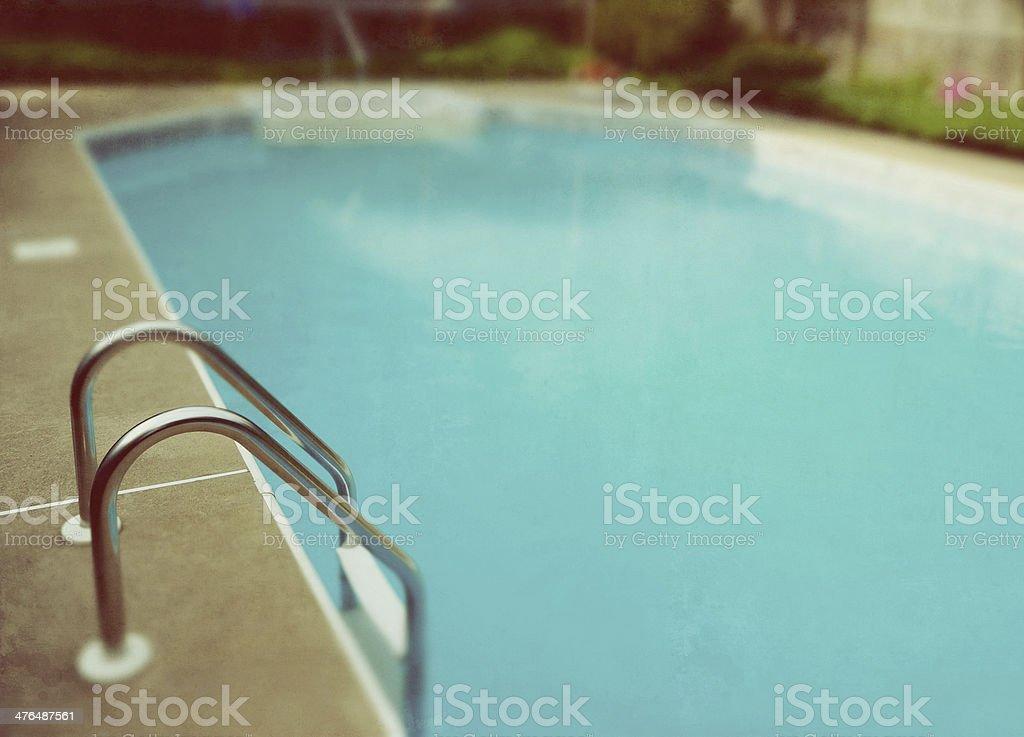 Visual retrô piscina escada foto royalty-free