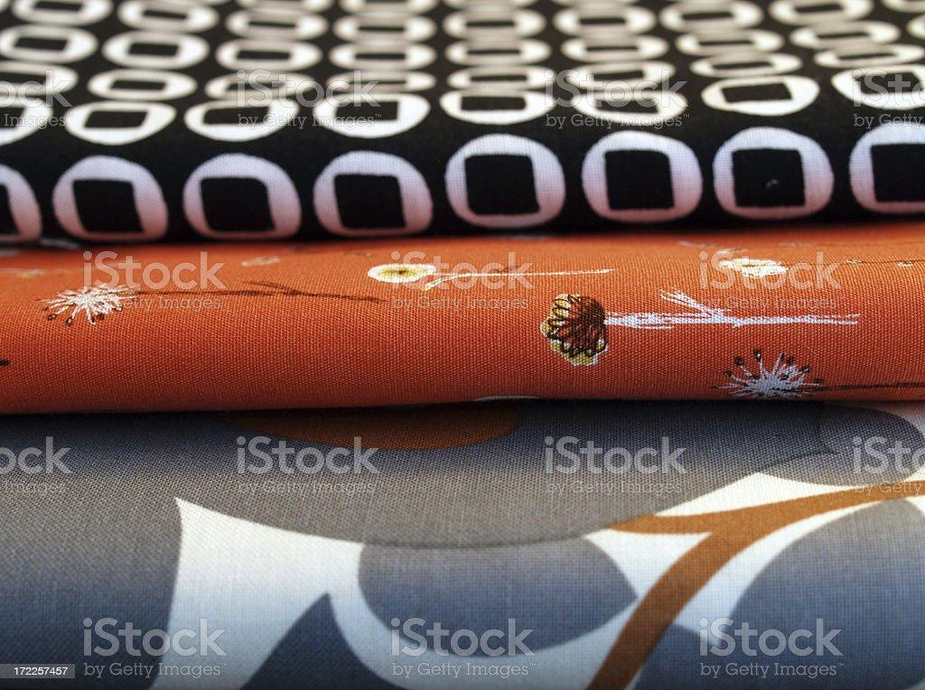 Retro-modern fabrics stock photo