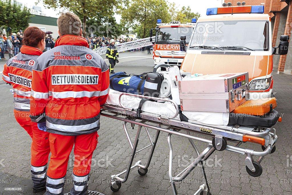 Rettungsdienst / rescue service stock photo